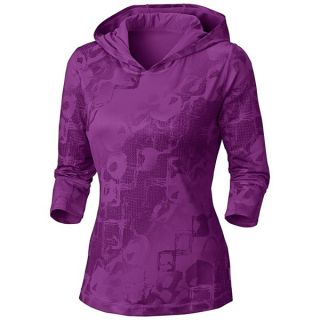 Mountain Hardwear Nambia Hooded Shirt   3/4 Sleeve (For Women)   BLACK (M )