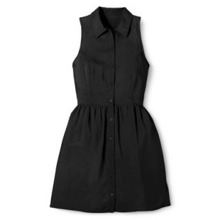 Merona Womens Woven Sleeveless Shirt Dress   Ebony   4