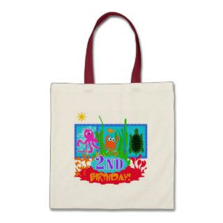Undersea 2nd Birthday T shirts and gifts Canvas Bag