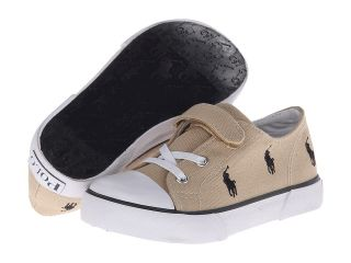 Polo Ralph Lauren Kids Bel Harbour Cap Toe Repeat Boys Shoes (Beige)