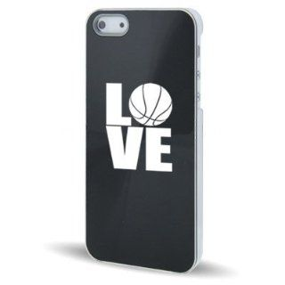 Apple iPhone 5 5S Black 5C452 Aluminum Plated Hard Back Case Cover Love Basketball Cell Phones & Accessories
