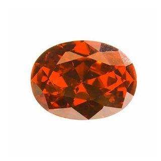 16x12mm Oval Red Cz   Pack Of 1   Loose Gemstones