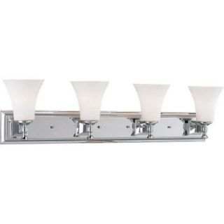 Progress Lighting Fairfield Collection Chrome 4 light Vanity Fixture P3134 15