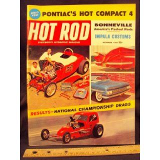 1960 60 NOV November HOT ROD Magazine, Volume 13 Number # 11 Trend Inc. Books