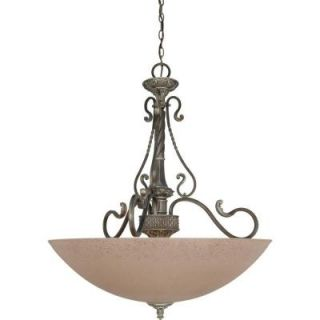 Glomar Celeste   3 Light Pendant with Amethyst Glass Gold Coast DISCONTINUED HD 1153