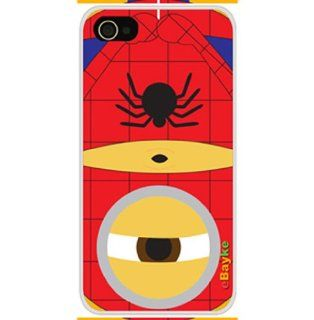 ke� DCM 22 Apple iPhone 4S 4G iPhone4 At&t Sprint Verizon Funny Cartoon Movie Despicable Me Cute Minions Minion as Spider Man Pattern Snap on Protective Skin Case Cover Cell Phones & Accessories