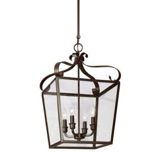 Sea Gull Lighting Lockheart 4 Light Heirloom Bronze Hall/Foyer Lantern with Clear Glass 5119404 782