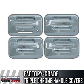 2004 2014 Ford F150 4dr Chrome Door Handle Covers (With Keypad, With Passenge Automotive