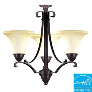 Aspects Swain 3 Light Oil Rubbed Bronze Chandelier SWC313SCT