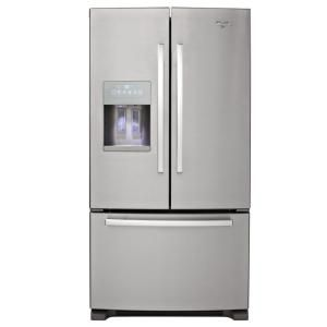 Whirlpool Gold 25.6 cu. ft. French Door Refrigerator in Monochromatic Stainless Steel GI6FARXXY