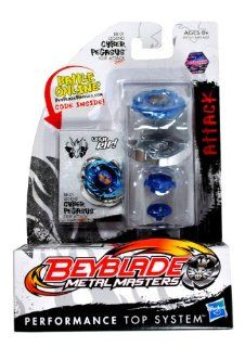 Hasbro Year 2011 Beyblade Metal Masters High Performance Battle Tops   Attack 105F BB01 LEGEND CYBER PEGASUS with Face Bolt, Pegasus Energy Ring, Cyber Fusion Wheel, 105 Spin Track, F Performance Tip and Ripcord Launcher Plus Online Code Toys & Games