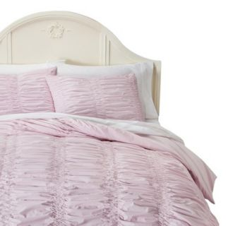 Simply Shabby Chic Textured Duvet Cover Cover Set   Pink (Full/Queen)