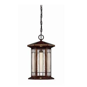 Hampton Bay Woodbridge Collection 1 Light Large Heritage Bronze Faux Tiffany Pendant 21102 035
