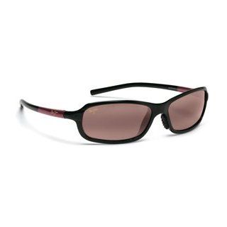 MAUI JIM WHITECAP 107 R107 07 BLACK BURGUNDY PLASTIC ROSE POLARIZED SUNGLASSES SHADES Clothing