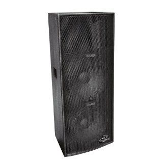 PylePro PPAD122 Dual 12 Inch Heavy Duty 3 Way Speaker Cabinet Musical Instruments