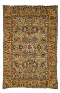 Safavieh Old World Collection OW121A Handmade Light Green and Gold Wool Area Rug, 5 Feet by 7 Feet 6 Inch