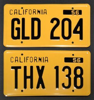 American Graffiti / THX 138 + GLD 204 *METAL STAMPED* Vanity Prop License Plate Combo  Other Products