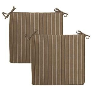 Hampton Bay Bark Stripe Deluxe Outdoor Chair Cushion (2 Pack) 7347 02002900