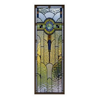 art deco stained glass window poster  8.99