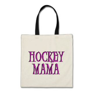 Hockey Mama Hot Pink T shirts and Gifts Canvas Bag