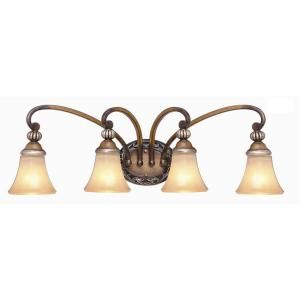 Hampton Bay 4 Light Caffe Patina Bath Light 15111