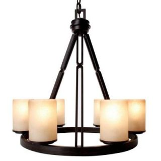 Hampton Bay Alta Loma 6 Light Dark Ridge Bronze Chandelier 27055