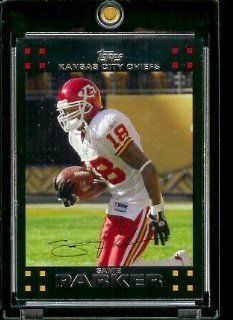 2007 Topps Football # 154 Samie Parker   Kansas City Chiefs   NFL Trading Cards Sports Collectibles