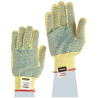 Ansell GoldKnit 70 330 PVC Glove, Cut Resistant, Knitted Coated on Kevlar Liner, Small (Pack of 12 Pairs) Cut Resistant Safety Gloves