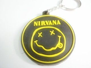1x NIRVANA MUSIC rubber car keychain key fob ring
