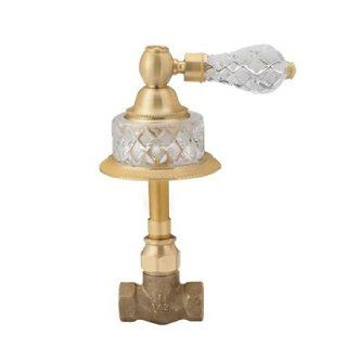 Phylrich 2PV181ATO004 004 Satin Brass Bathroom Faucets Volume Control & Diverter Trim Only W/Cut Crystal Handle   Bathtub And Shower Diverter Valves