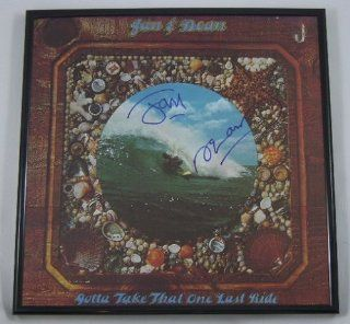 Jan & Dean Gotta Take That One Last Ride Authentic Signed Autographed Lp Record Album Vinyl Framed with Loa Entertainment Collectibles