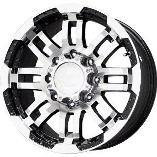 "Vision 375 Warrior Gloss Black Wheel with Machined Face (20x9""/8x165.1mm) Automotive"