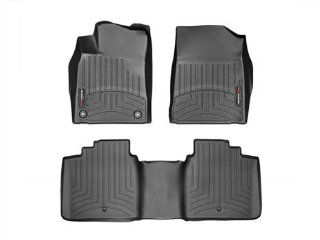 2013 Toyota Avalon Black WeatherTech Floor Liners (Full Set 1st & 2nd Row) Automotive