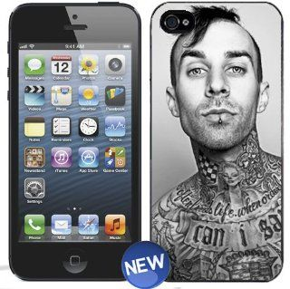 BLINK 182 TRAVIS BARKER Black and White iPhone 5 Plastic Hard Phone Cover Case