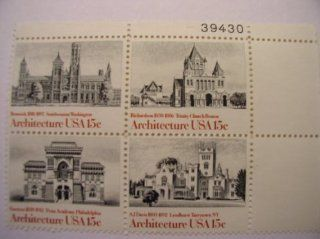 US Postage Stamps, 1980, American Architecture, S# 183 41, Plate Block of 4 15 Cent Stamps, MNH