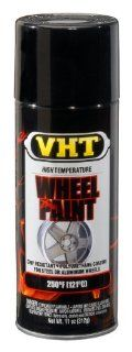 VHT SP187 Gloss Black Wheel Paint Can   11 oz. Automotive
