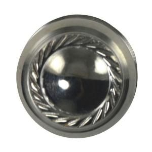 Copper Mountain Hardware Georgian Roped 1 1/4 in. Polished Chrome Round Cabinet Knob SH112US26