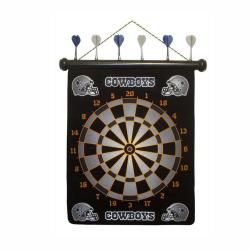 Officially Licensed Dallas Cowboys Magnetic Dartboard with Six Darts Football