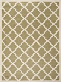 Safavieh CY6903 244 Courtyard Collection Indoor/Outdoor Area Rug, 2 Feet by 3 Feet 7 Inch, Green and Beige