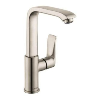 Hansgrohe Metris E 230 Single Hole 1 Handle High Arc Bathroom Faucet in Brushed Nickel 31087821