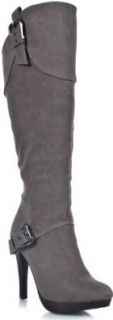 Anne Michelle Motive 04 Leatherette Knee High Boot Shoes