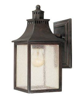Savoy House Lighting 5 254 25 Monte Grande Collection 1 Light Outdoor Wall Mount 11.5 Inch Lantern, Slate with Pale Cream Seeded Glass   Wall Porch Lights