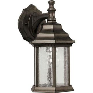 Illumine 1 Light Outdoor Lantern Olde Bronze Finish Clear Seeded Glass Panels CLI FRT1725 01 18