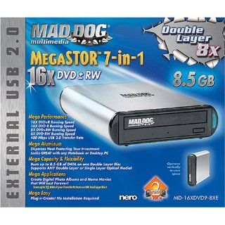 Mad Dog Multimedia MegaSTOR 7 in 1 16X/8X Double Layer DVD+ R/+ RW MD 16XDVD9 8XE Computers & Accessories