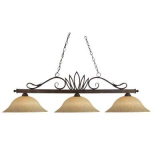 Filament Design Lawrence Collection 3 Light Weathered Bronze Island Light CLI JB119 3 WB GM16