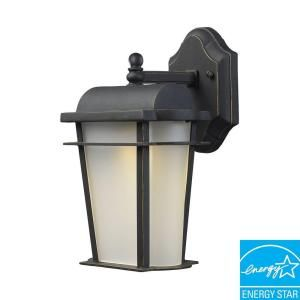Titan Lighting Hampton Ridge Outdoor Weathered Charcoal LED Wall Sconce DISCONTINUED TN 5294