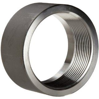 "Stainless Steel 304 Pipe Fitting, Half Coupling, Class 1000, 1/8"" NPT Female X Plain Industrial Pipe Fittings"