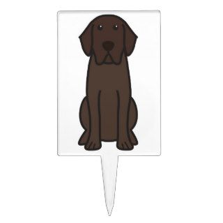 Labrador Retriever Dog Cartoon Cake Picks