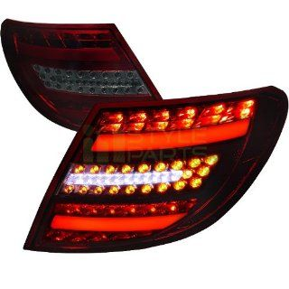 2007 2008 2009 2010 2011 Mercedes Benz C Class 4 Doors (except C63 & models with factory LED tail lights) LED Tail Lights Red Smoke Automotive