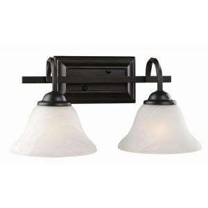 Design House Drake 2 Light Oil Rubbed Bronze Wall Mount Sconce 514919